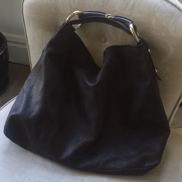 Gucci Bags   Large Brown Leather Horsebit Hobo Bag   Poshmark ffa8e897f6